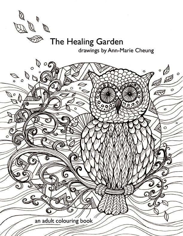 The Healing Garden colouring book by Ann-Marie Cheung