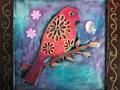 Encaustic Blue Bird #2