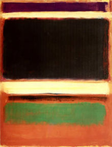 No. 3/No. 13 (Magenta, Black, Green on Orange), 1949 - Mark Rothko