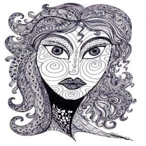Goddess Zen Doodle