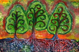 Three Tree Sisters  Painting