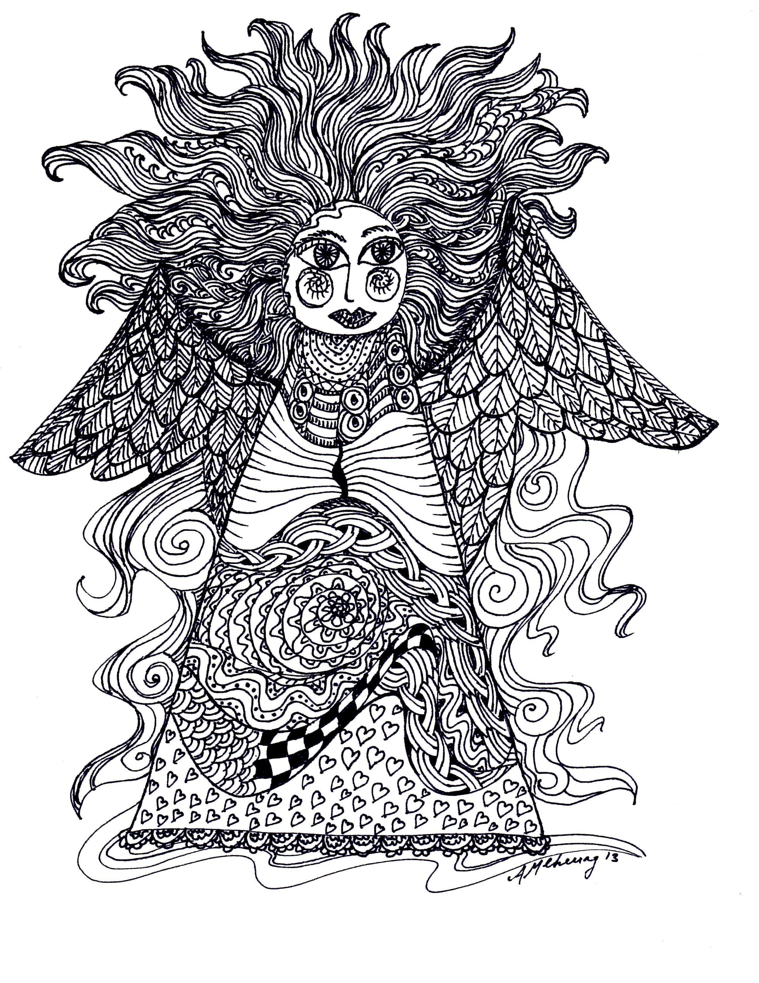 Zen Doodle Angel by Ann-Marie Cheung