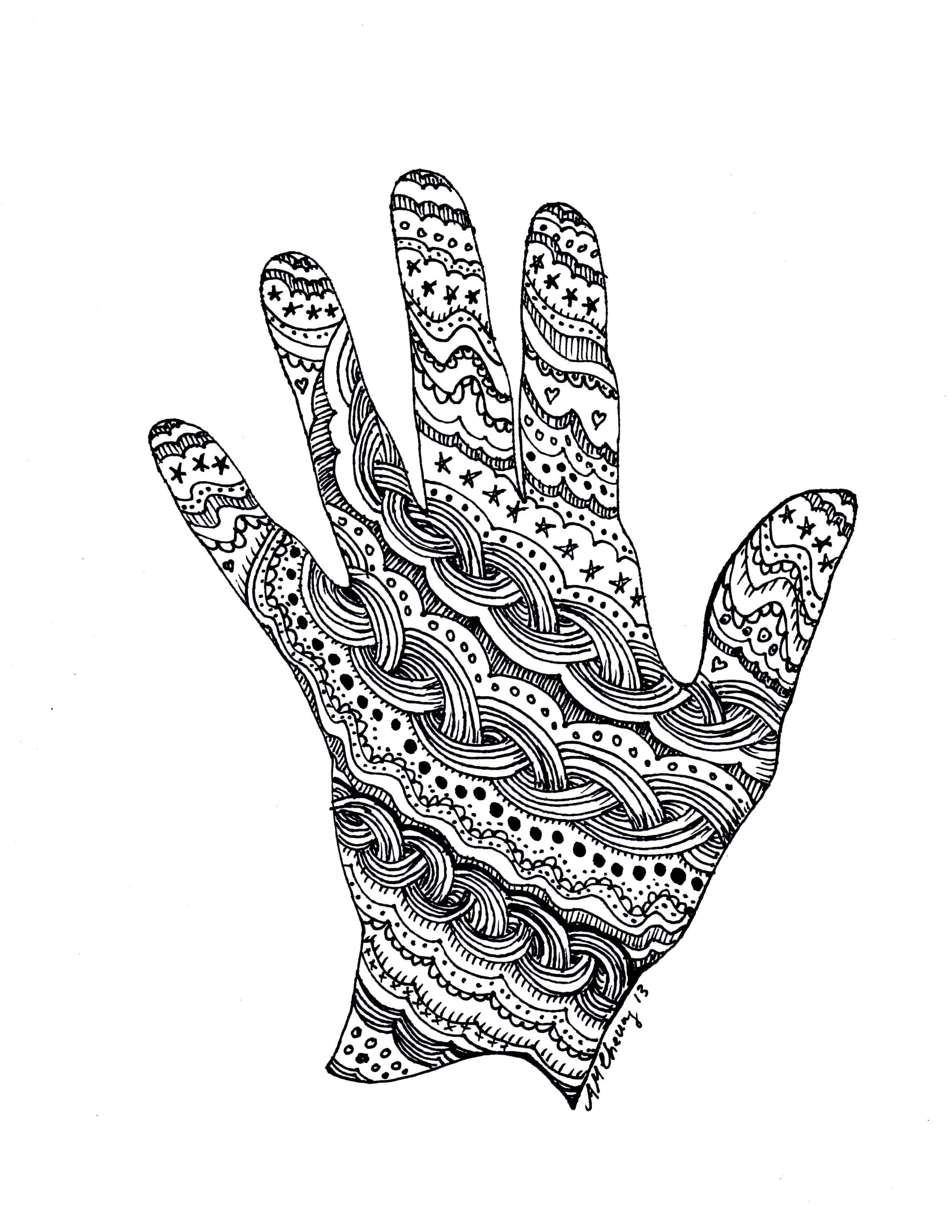 Zen Doodle Hand