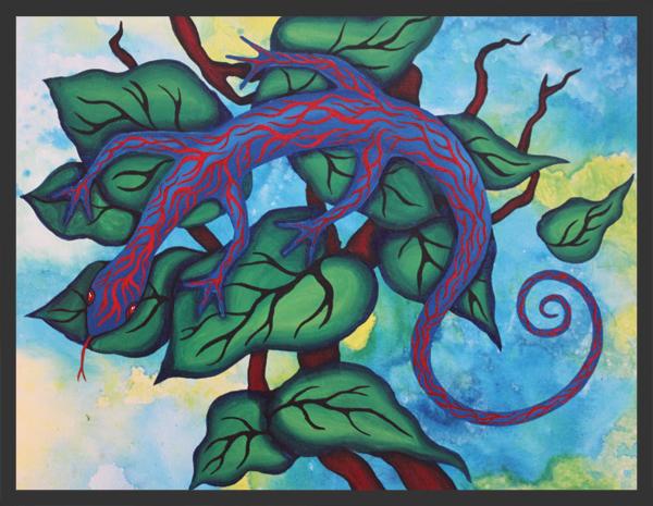Caribbean Blue Lizard