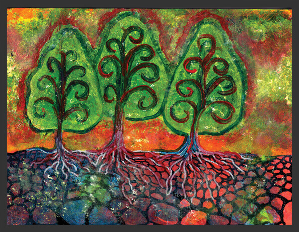 Three Sister Trees by Ann-Marie Cheung