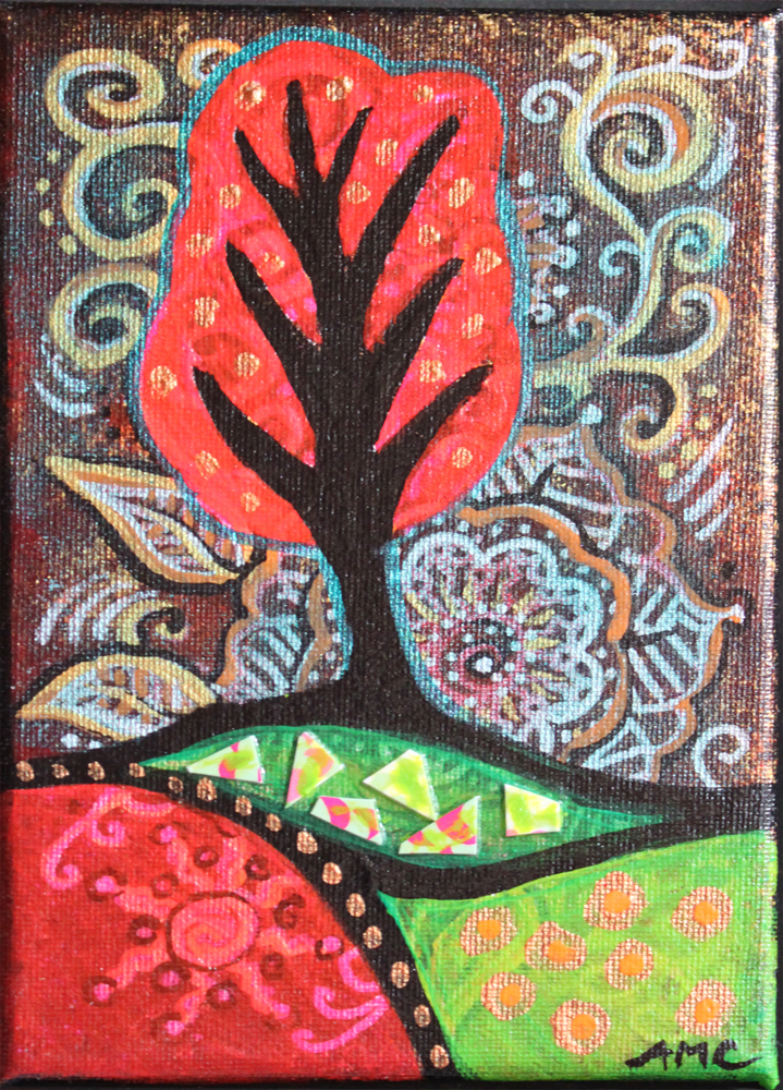 Pink Happy Tree by Ann-Marie Cheung 2014