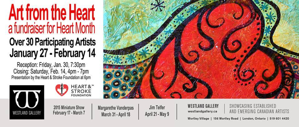 Art from the Heart at the Westland Gallery London