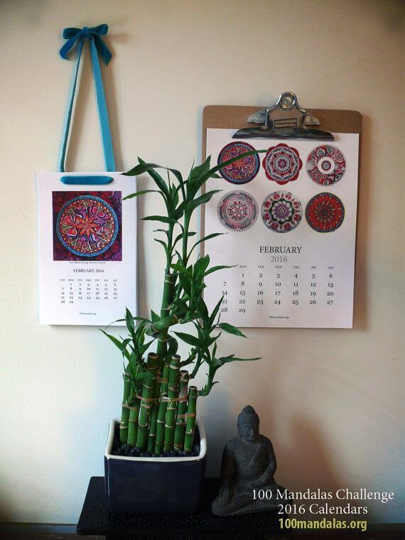 100 Mandalas 2016 calendar