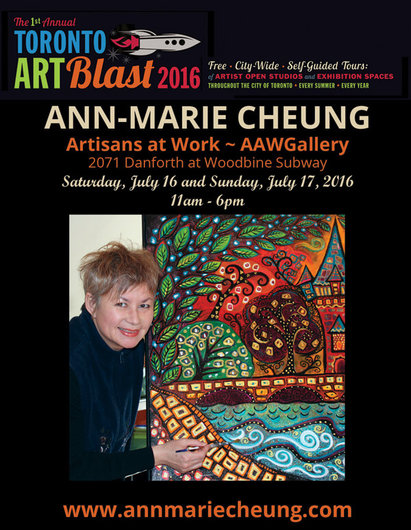 ann-marie cheung at Toronto Art Blast 2016