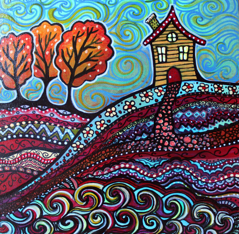 Happy House, acrylic on canvas by Ann-Marie Cheung